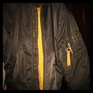 Flight Jacket orange lining ..Size XL